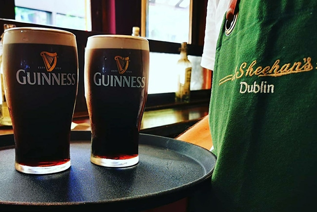 Whiskey Bar at Sheehans, Chatham St. Dublin